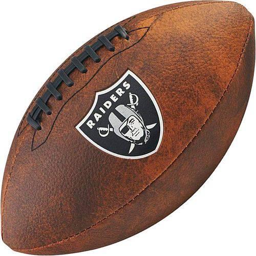 Bola de Futebol Americano Wilson THROWBACK NFL Jr. OAKLAND RAIDERS