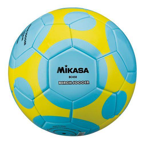 Bola de Futebol de Areia Beach Soccer BC450 Mikasa - Azul/Amarelo