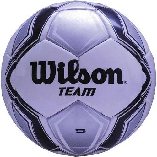 Bola de Futebol de Campo Team New N.5 Prata/Preta Wilson