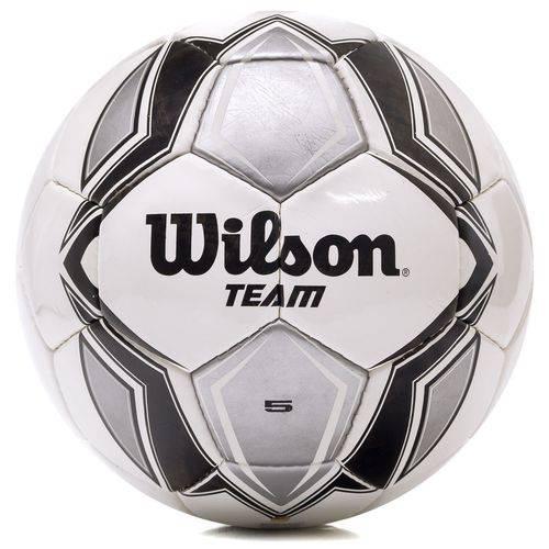 Bola de Futebol de Campo Wilson Team Sb Branca Preta e Prata