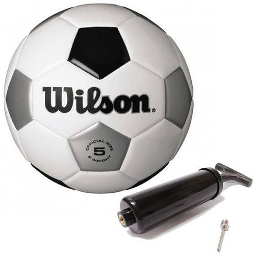 Bola de Futebol Tradicional N°5 Branco/prata/preta Wilson