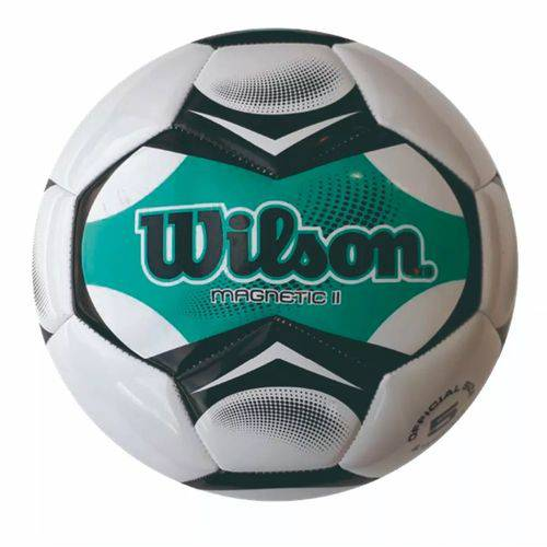 Bola de Futebol Wilson Magnetic II Tamanho 5 - Branca com Verde Água-Branco / Verde-SP