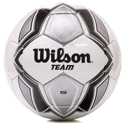 Bola de Futebol Wilson Team Tamanho 5 - Branca com Prata e Preta-Branco / Prata-SP