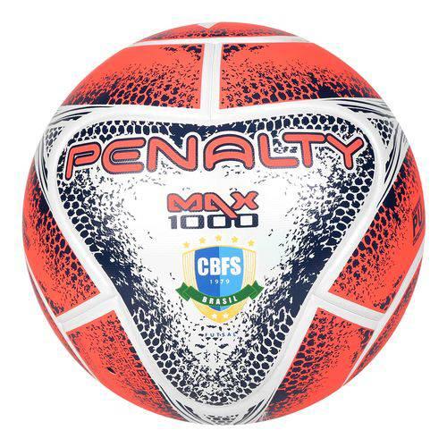 Bola de Futsal Futebol Penalty Max 1000 Termotec - Vermelho