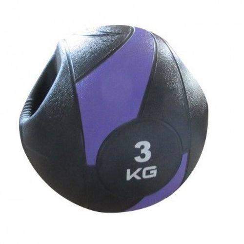 Bola de Peso Medicine Ball com Pegada 3Kg - LIVEUP LS3007A/3