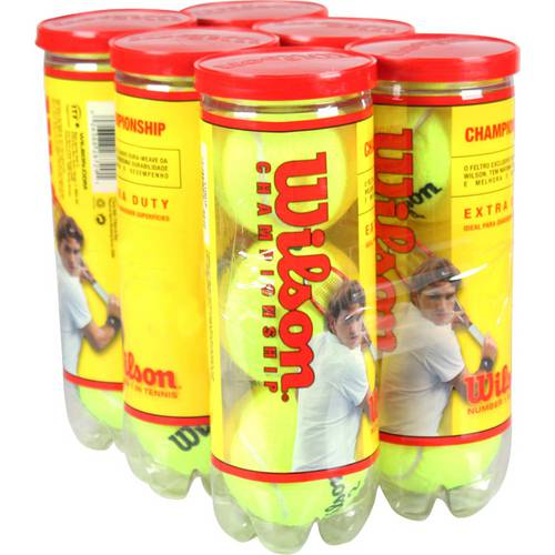 Bola de Tenis Wilson Championship - Pack 18 Bolas