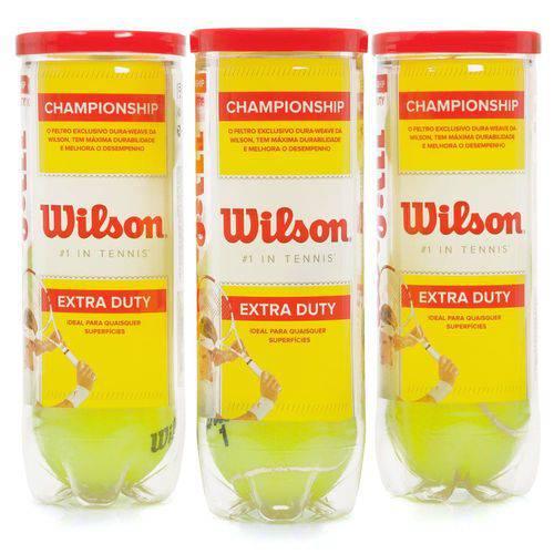 Bola de Tênis Wilson Championship - Tubos com 3 Bolas - 3 Tubos com 3 Bolas