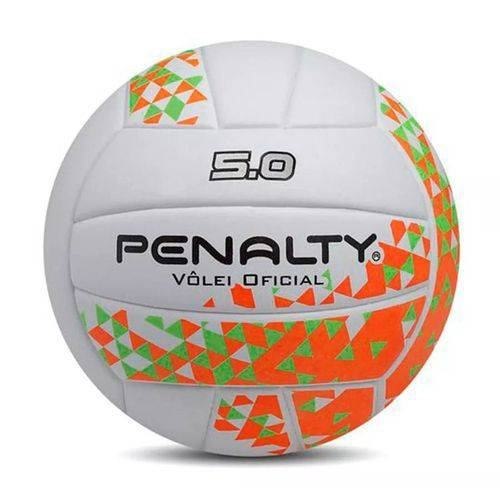 Bola de Vôlei Penalty 5.0 VIII - Branco e Laranja