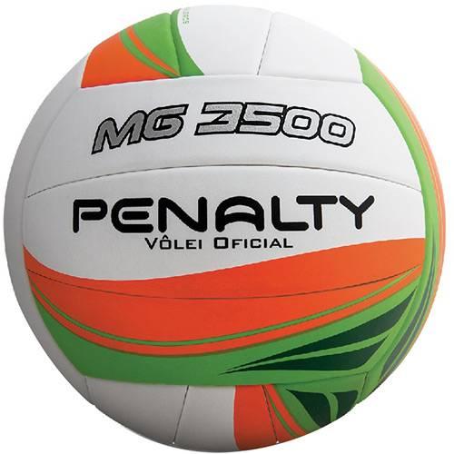 Bola de Vôlei Penalty Mg 3500 Branco Laranja e Verde