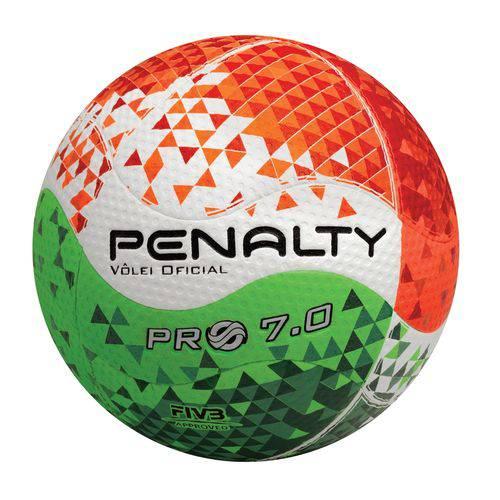 Bola de Vôlei Pro 7.0 Pro VIII Penalty - Branco/Laranja/Verde