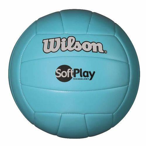 Bola de Vôlei Soft Play Microfibra Pu e Pvc Azul Wilson