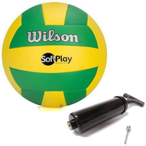 Bola de Vôlei Softplay Verde C/ Amarelo 100% Original Wilson