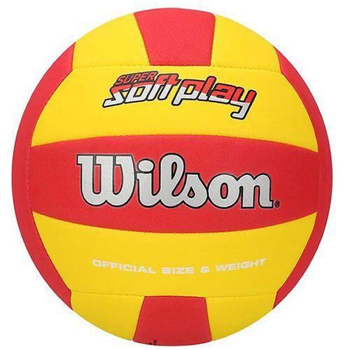 Bola de Vôlei Super Soft Play Vermelha C/ Amarelo Wilson