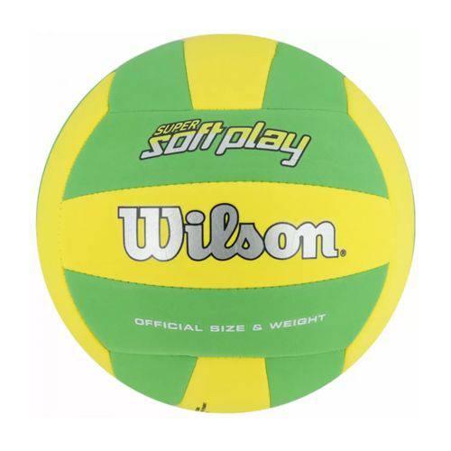 Bola de Vôlei Super Soft Play Amarelo/Verde Wilson - WTH350