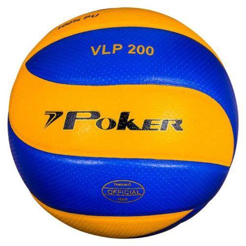 Bola de Vôlei VLP 200 Profissional Poker - Azul/Amarelo
