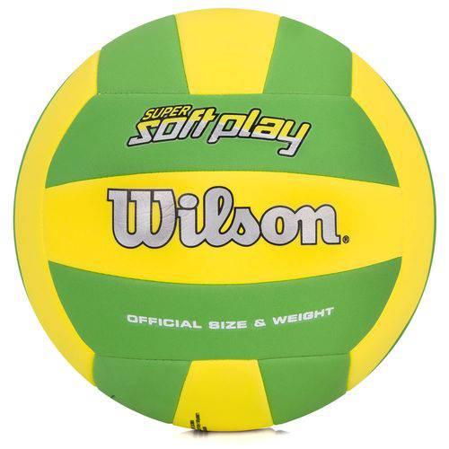 Bola de Volei Wilson Super Soft Play Verde e Amarela