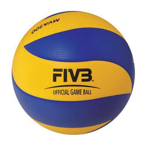 Bola de Voleibol Mikasa MVA200 Size 5 Azul e Amarelo