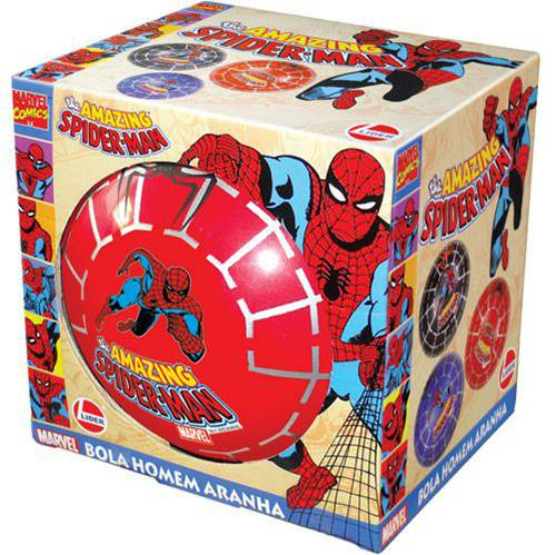 Bola em Vinil Spiderman (na Caixa) Azul - Lider