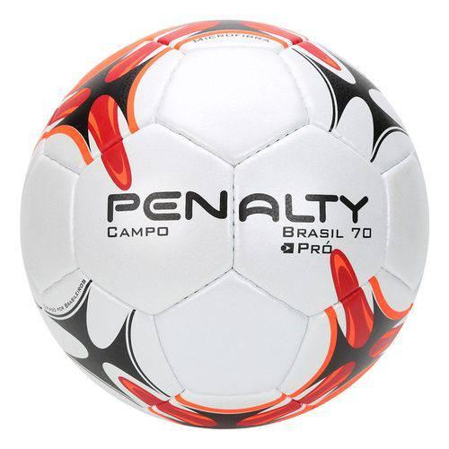 Bola Futebol Campo Penalty Brasil 70 VII - Branco e Laranja