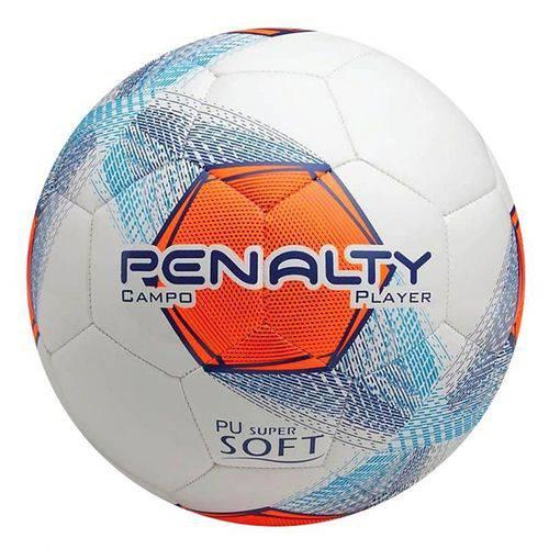 Bola Futebol Campo Player VIII C/C Penalty - Branco/Marinho/Laranja