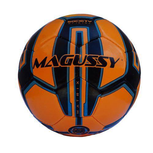 Bola Futebol Society Matrix Magussy - Laranja