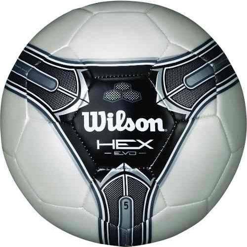 Bola Futebol Wilson Hex Evo 5 - Branca e Prata