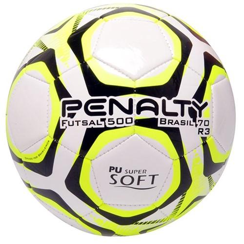 Bola Futsal Penalty Brasil 70 R3 Branco/Amarelo/Preto