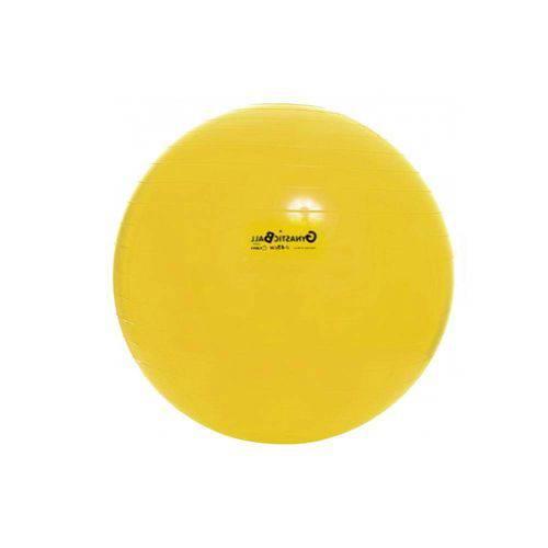 Bola para Exercicios Gym Ball 45cm com DVD Bomba Carci Amarela