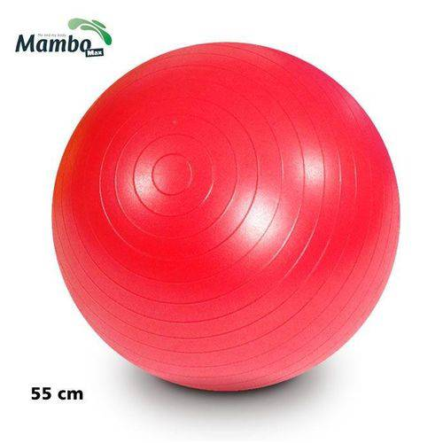 Bola para Exercícios Gym Ball 55 Cm Vermelha Mambo Max