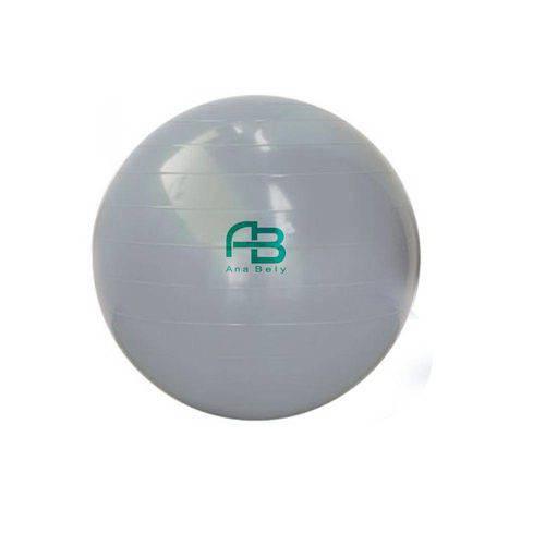 Bola para Exercicios Gym Ball 65cm com DVD Bomba Carci Cinza