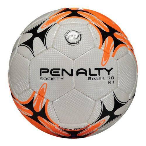Bola Penalty Brasil 70 R1 VII Society - Branco e Laranja