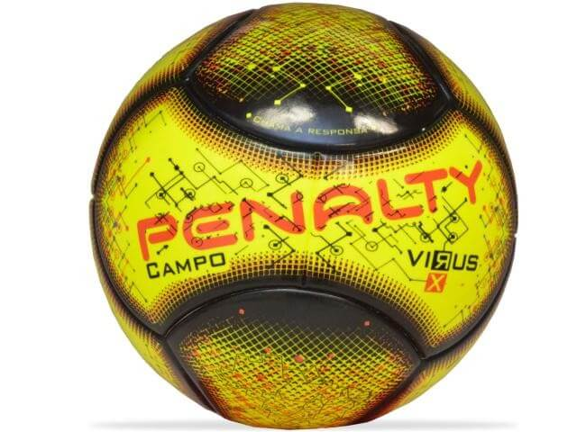 Bola Penalty Campo RX Virus VIII Amarelo