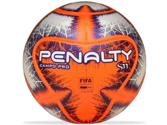 Bola Penalty Campo S11 Pro IX Branco Laranja