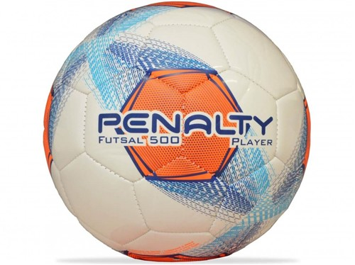 Bola Penalty Futsal 500 Player Branco Azul