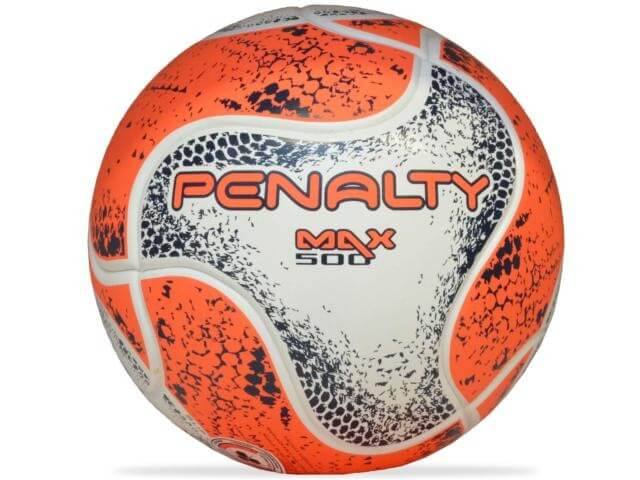 Bola Penalty Futsal Max 500 Term Viii Branco Coral