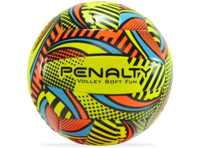 Bola Penalty Volei Soft Fun Amarelo