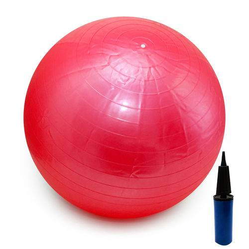 Bola Pilates Yoga Fitness 65cm C/ Bomba Abdominal Ginastica