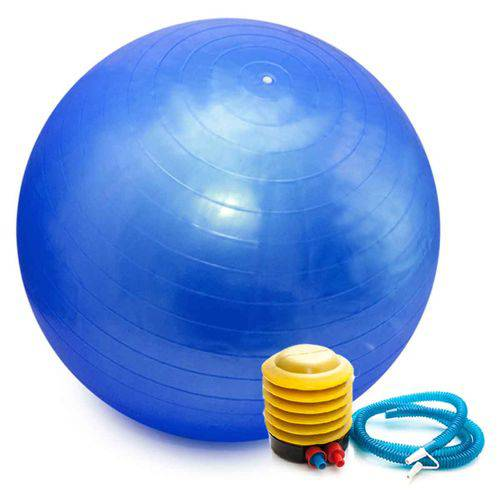 Bola Pilates Yoga Fitness 55cm C/ Bomba Abdominal Ginastica