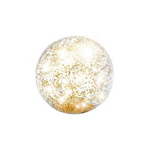 Bola Praia Glitter Ouro - Intex