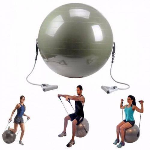 Bola Suica para Pilates 65cm com Extensores e Bomba Liveup