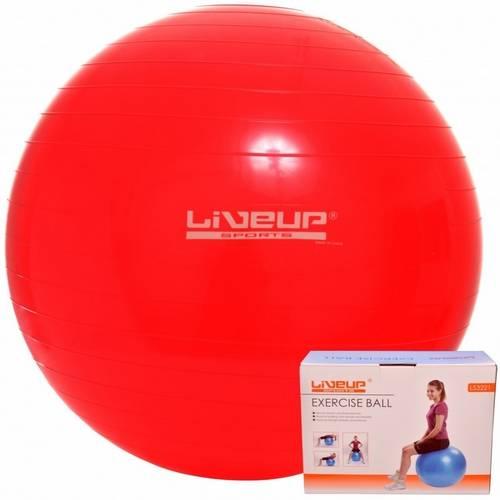 Bola Suíça para Pilates 45cm Live Up Grátis Bomba Inflar