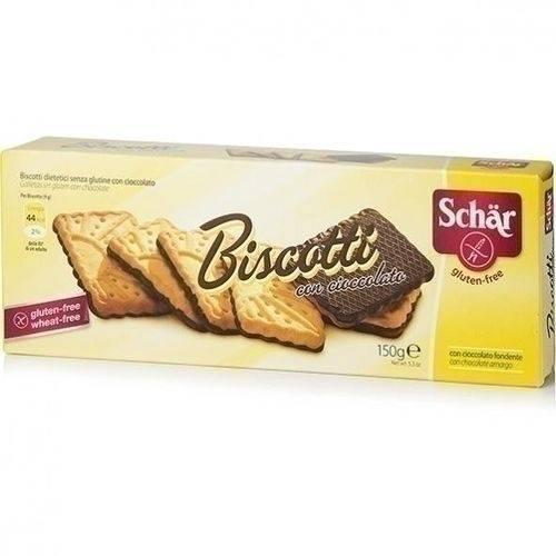 Bolachas Cobertas com Chocolate Amargo Sem Glúten 150g - Schar