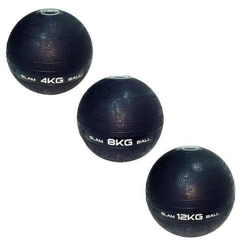 3 Bolas Medicine Slam Ball para Crossfit 4, 8 e 12kg - Liveup