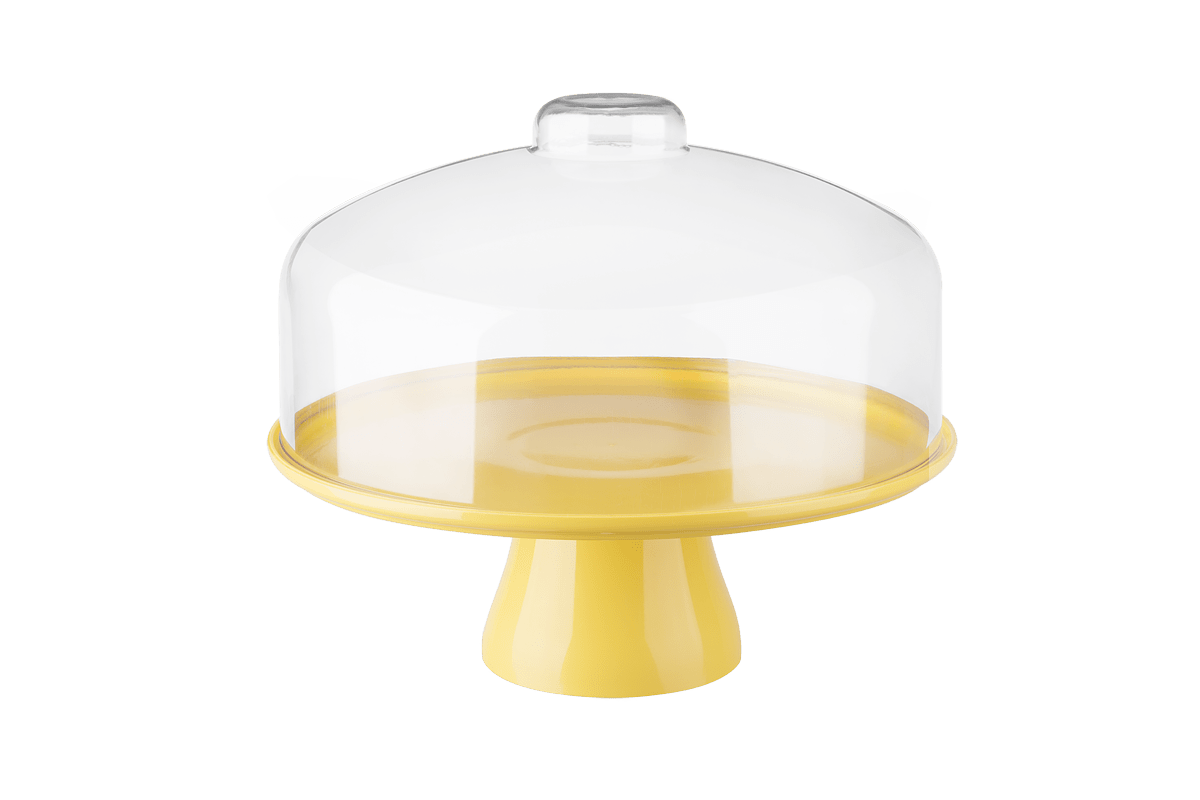 Boleira Cake com Cúpula Ø32 Cm 32 X 32 X 26,7cm Amarelo Coza
