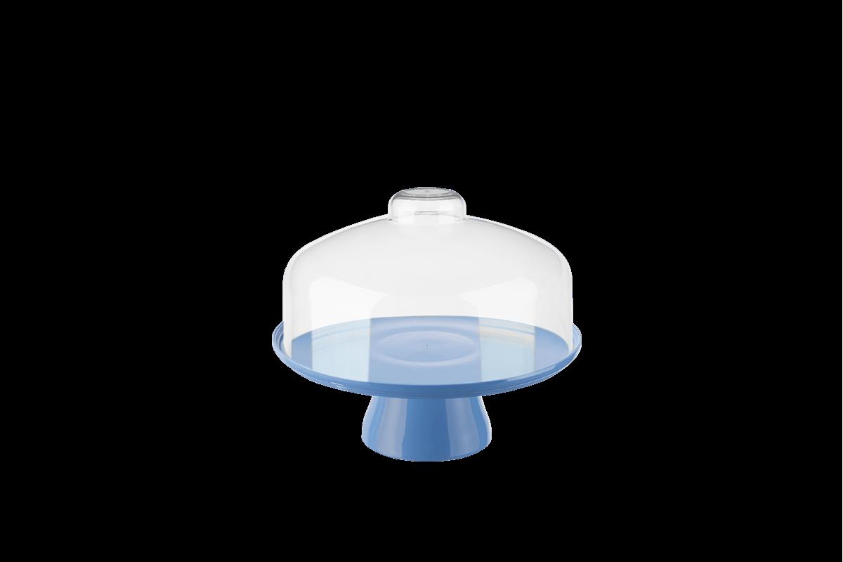 Boleira Cake com Cúpula Ø19,5 Cm 19,5 X 19,5 X 18 Cm Azul Coza