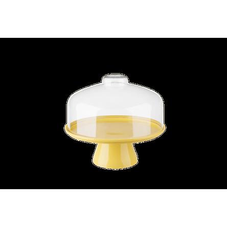 Boleira Cake com Cúpula Ø25 Cm 25 X 25 X 22 Cm Amarelo Coza