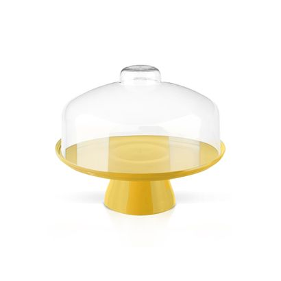 Boleira com Cúpula 19,5cm Cake Amarela Coza