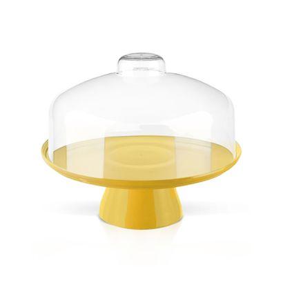 Boleira com Cúpula 25cm Cake Amarela Coza