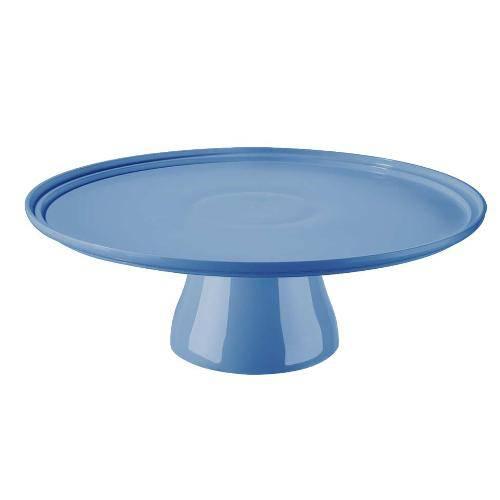 Boleira com Pedestal Cake 32cm Azul 10108/0461 - Coza
