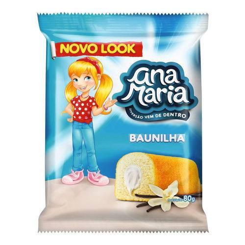 Bolinho Ana Maria Baunilha 80g - Pullman